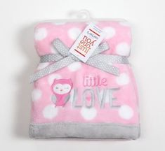 Carters Just One You Little Love Pink Owl Baby Blanket Gray White Polka Dots for sale online Carters Baby Clothes, Cute Baby Clothes, Babies Clothes, Babies Stuff, Baby Girl Owl, Baby Owls, Baby Girl Newborn, Fleece Baby Blankets, Baby Girl Blankets
