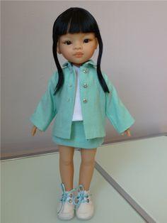 Patron de couture et tricot pour poupées Les Chéries | Ilys http://www.ilys.fr/tenue-poupee/
