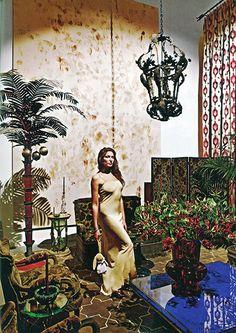 Madeline Weinrib Sand Brooke Tibetan Carpet in Stella Schnabel's NYC apartment as seen in New York Magazine