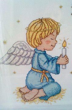 anjo ponto de cruz