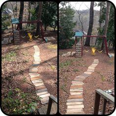Repurposed pallet walkway