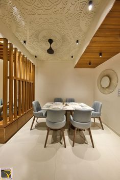 Pooja Room Door Design, Ceiling Design Living Room, False Ceiling Design, Dining Room Design, False Ceiling Living Room, Bungalow Interiors, Office Interiors, Home Interior Design, Interior Decorating