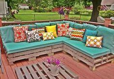 Wooden Pallet Outdoor Sofa