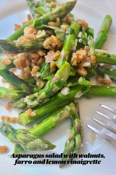 Asparagus Salad, Asparagus Recipe, Asparagus Dishes, Healthy Eating Recipes, Vegetarian Recipes, Cooking Recipes, Vegan Vegetarian, Side Dish Recipes, Vegetable Recipes