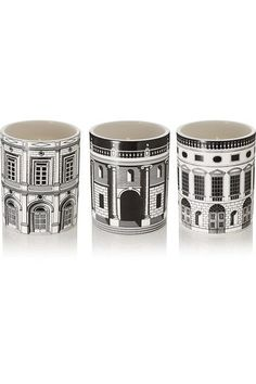 Fornasetti - Ordine Architettonico Set Of Three Candles, 3 X 300g - Colorless