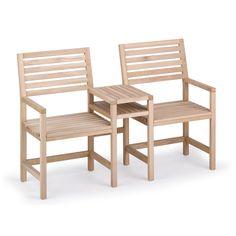 Dieser gemütliche Platz ist etwas für echte Liebhaber. Die kompakte Konstruktion aus fein gehobeltem Eichenholz, die dennoch Raum für praktische Abstellflächen bietet, macht diesen Zweisitzer zum...