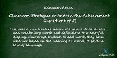 Classroom strategies to address the achievement gap (Tip 4)