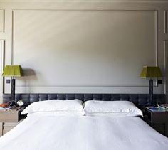 Edgy and Moody in Chiswick - Remodelista Dream Bedroom, Home Bedroom, Bedroom Ideas, Bedrooms, Headboard Ideas, Headboards, Edwardian House, Georgian House, Leather Headboard