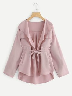 To find out about the Drawstring Waist Waterfall Solid Outerwear at SHEIN, part of our latest Outerwear ready to shop online today! Hijab Fashion, Fashion News, Fashion Styles, Young Models, Drawstring Waist, Outerwear Jackets, Casual, Clothes For Women, Coat