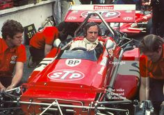 Chris Amon, STP March 701, in the pits at the 1970 British Grand Prix, Brands Hatch. #f1 #formula1 #motorsport #chrisamon