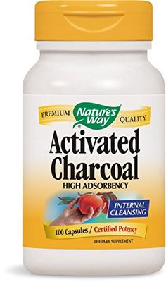 Nature's Way Activated Charcoal, 100 Capsules Nature's Way