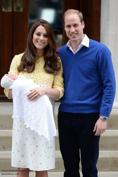 The Duke and Dutchess of Cambridge emerged onto the steps of the Lindo Wing this evening to present their new daughter to the world