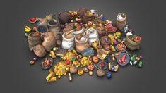 Loot n Fruit Set for Bitgem, Csaba Baity on ArtStation at https://www.artstation.com/artwork/loot-n-fruit-set-for-bitgem
