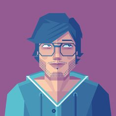 How to Create a Self-Portrait in a Geometric Style in Illustrator #lowpoly #photoshoptutorials