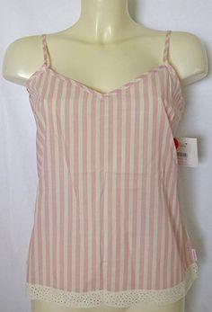 7f8873c37a5010 Calvin Klein Designer Sleepwear Cotton Camisole Pink Stripe  Amazon.co.uk   Clothing