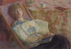 Francois Pycke (1890-1960) - Woman in a Lounge-Chair, 1913