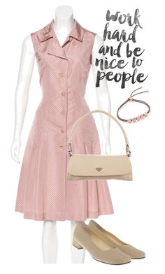 """dress"" by masayuki4499 ❤ liked on Polyvore featuring Prada and Monica Vinader"