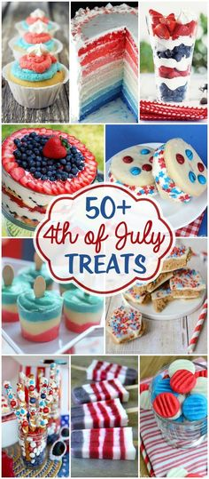50+ 4th of July Treats - a collection of patriotic recipes perfect for your barbecues and celebrations!! { http://lilluna.com }