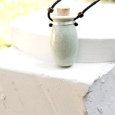 AROMATHERAPY DIFFUSER LOCKET, diffuser jewelry, essential oil diffuser necklace, diffuser locket, Wearable Clay, blue grey pendant