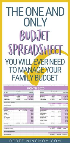 Manage your families finances in as little as 30 minutes every month with this easy budget and financial planning spreadsheet for busy families! Budget App, Budget Spreadsheet, Budget Planner, Easy Budget, Monthly Planner, Living On A Budget, Family Budget, Frugal Family, Frugal Living