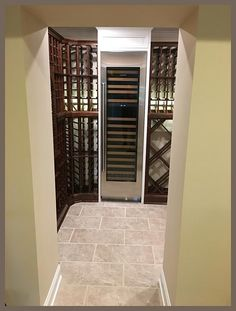 Some happy Tuesday vibes to start the week, wine cellar buddies! We're going to be talking about small wine cellar concepts today, thanks to this project! Wine Bottle Rack, Wine Rack, Base Moulding, Wine Storage, Happy Tuesday, Wine Cellar, Storage Spaces, Concept, Wine Racks