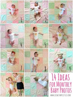 14 monthly baby picture ideas that will help you decide how to document your baby's growth each month!