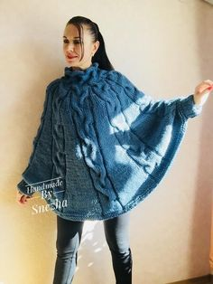 Excited to share this item from my shop: Knit Women Plus Size Chunky Wool Crochet Poncho Alpaca Loose Cable Hand Knit Oversized Cape Coat Black Red White Winter Poncho Au Crochet, Knitted Cape, Crochet Shawls And Wraps, Pull Poncho, Poncho Sweater, Loose Knit Sweaters, Hand Knitted Sweaters, Festival Poncho, Ladies Poncho