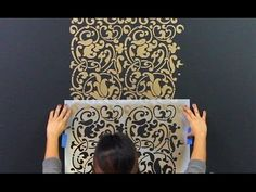 (1) How to Repeat Stencil Designs on Accent Wall using Registration Marks - YouTube