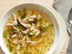 Chicken, Lemon, Mint & Rice Soup