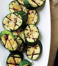 Grilled Zucchini with Sea Salt, such a tasty and easy side dish! {Cool World Recipes}