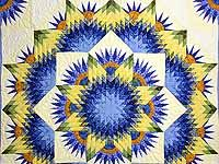 Compass Star Quilt (Lone Star & Mariner's Compass)