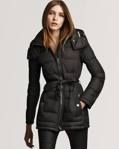 Burberry Brit Down Puffer Coat, the only stylist insulated coat I would ever wear.