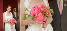 pink peony bouquet // http://bellwetherevents.com; photo by Flutter Photo