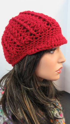 Every hat collection needs a Newsboy. This is Paige, a very feminine twist on a news'boy' hat for all the teens & ladies in your life. Knitted Hats, Crochet Hats, News Boy Hat, Great Gifts, Beanie, Feminine, Knitting, Color, Collection
