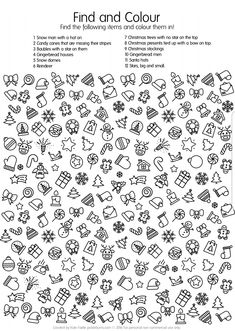 4 Free Printable Christmas Worksheets Free Printable Christmas Find and Colour Activity √ Free Printable Christmas Worksheets . Free Printable Christmas Resources for and Includes Christmas Games, Christmas Colors, Kids Christmas, Christmas Crafts, Christmas Doodles, Christmas Activities For Kids, Reindeer Christmas, Free Christmas Printables, Free Printables