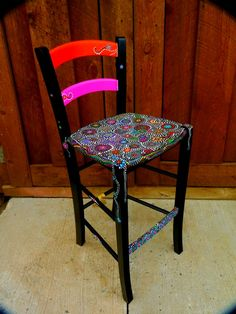 Funky handpainted chairs