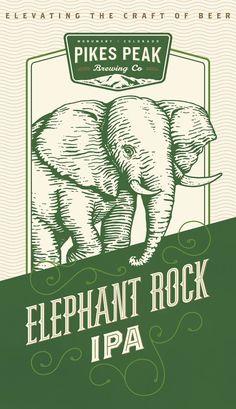 Pikes Peak Elephant Rock Can Artwork Designed by Westwerk