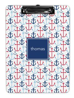 Blue Happy Anchors Clipboards