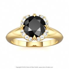 Black Diamond Engagement Ring #customizable #jewelry