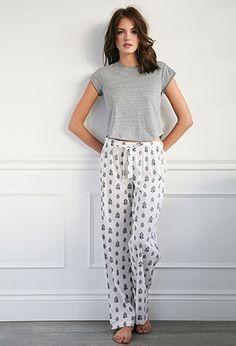 Paisley Floral PJ Pants | Forever 21 - 2000097115