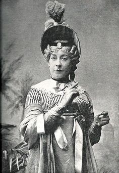 """Alfred Ellis photograph of Rosina Brandram as Lady Sophy in the original production of """"Utopia Limited"""" (Act 1) (c/o Simon Moss; from the Oct 24, 1894, issue of The Sketch)."""