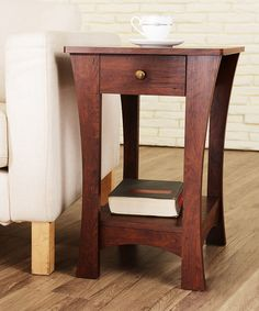 Furniture of America Vintage Walnut Harthall Accent Table | zulily