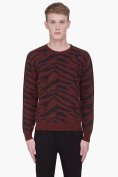 MARC JACOBS //    Tiger Print Cashmere Sweater    22190M055005
