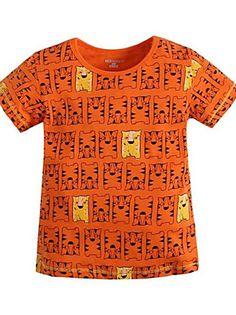 Menino de Camiseta Verão Algodão Estampado Menino de