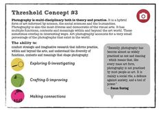 Threshold Concepts - PhotoPedagogy