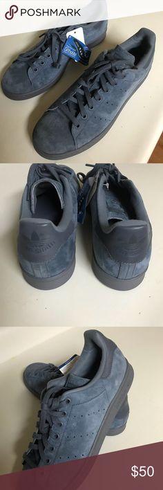 official photos e64d0 c7c7e Adidas Stan Smith suede light blue Very comfortable men shoes Brand New  adidas Shoes Sneakers Adidas