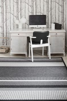 Laituri-villamatto, design Elina Helenius Joko, Corner Desk, Carpet, Furniture, Design, Home Decor, Corner Table, Decoration Home, Room Decor