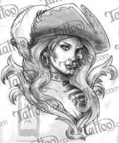 pirate woman tattoo - Pesquisa Google