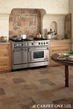 Match for backsplash to your floor tile for extra impact.