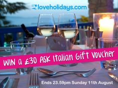 Win a £30 ASK gift voucher with loveholidays.com!